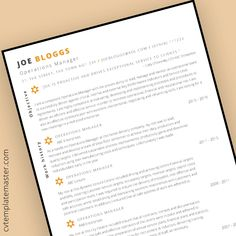 Free Operations Manager CV template
