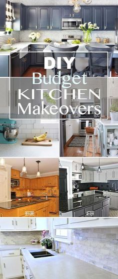 Kitchen Remodel On A Budget Awesome, Awesome, Ideas!Budget kitchen makeovers - Easy DIY budget kitchen makeovers with projects to help you makeover each major component of your kitchen space, while creating a custom high end look. Budget Kitchen Remodel, Diy Bathroom Remodel, Kitchen On A Budget, Kitchen Redo, New Kitchen, Kitchen Makeovers, Kitchen Cabinets, Awesome Kitchen, Diy Kitchen Makeover