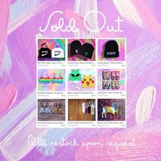 """1. #BW #Slime #Nike Logo """"#JustDoIt"""" Mock #Halter  2. #Unisex Black #Alien Embroidered (His and Hers) Skull Caps / Beanies  3. Unisex Black / White Embroidered """"Bad #Hair Day"""" Skull Cap / #Beanie  4. #Rainbow Gradient #TieDye Strappy Bralette  5. #Retro #Cartoon Character Print Tank #CropTop  6. Character / #Food Printed Women's Ankle #Socks  7. #Rave #Edc #Gold or #Silver Belly #Dance Beaded Sequin Rhinestone Bra Tops  8. #Crystal Necklaces (FREE Cord Included)  9. Retro Lase"""
