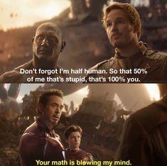 Quill vs Tony Infinity war