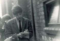 May Paul signing autographs outside the Rialto Theatre, Fishergate, York, Yorkshire Rialto Theater, Solo Photo, Paul Mccartney, The Beatles, Theatre, The Outsiders, Singer, Fictional Characters, Yorkshire
