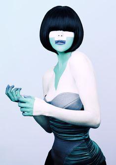2073 by Karolis Kaminskas, via Behance #cold #fashion #editorial #green #mint #blue #portrait #photography