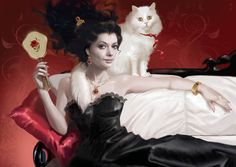 Women and Cats will do as they please. Man Beast, Creation Photo, Modern Pin Up, Man And Dog, Digital Art Girl, Pin Up Art, Crazy Cat Lady, Traditional Art, Cat Art