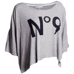Wildfox No.9 Harley Wide Tee ($235) ❤ liked on Polyvore