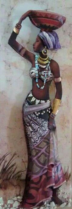 African Beauty, African Women, African Fashion, African Art Paintings, African Artwork, Afrique Art, Black Artwork, Afro Art, Black Women Art