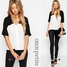 ASOS PETITE Cropped Blouse ASOS PETITE Cropped Blouse. Only worn once! ASOS Tops Blouses
