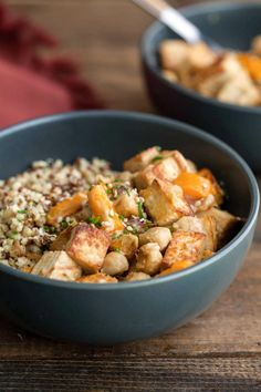 23 Make-Ahead Lunches to Get You Through the Work Week tofu chickpea stir fry with tahini sauce