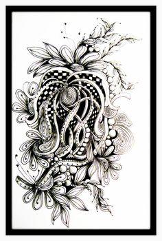 Zentangle by ledenzer, via Flickr