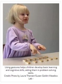 Spontaneous Gestures Can Help Children Learn  - pinned by @PediaStaff – Please Visit ht.ly/63sNtfor all our ped therapy, school & special ed pins