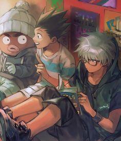 It's Gon and Killua! Why are you so red killua? Killua, Hisoka, Zoldyck, Hunter X Hunter, Hunter Anime, Blade Runner, Manga Anime, Anime Art, Anime Guys