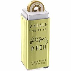 Andale Bearings Paul Rodriguez Pro Rated Precision Skateboard Bearings: One (1) set of eight (8) Andale Bearings Pro Rated Bearings from…