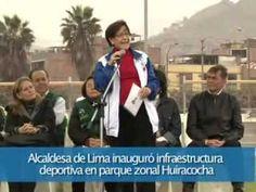 Alcaldesa de Lima inauguró infraestructura deportiva en parque zonal Huiracocha
