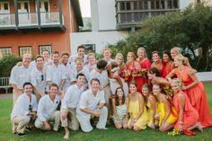 Pink, Orange, & Aqua Florida Wedding
