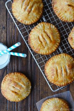 Salted Caramel Apple Hand Pies | recipe via justataste.com