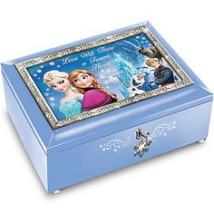 Disney FROZEN Blue Music Box: Plays Let It Go