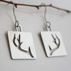 Antler Earrings. super Cute and I love anything deer/hunting related :)