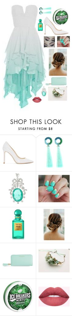 """Spearmint Princess"" by cynthia-zhang-2016 ❤ liked on Polyvore featuring Jimmy Choo, Jamierocks, SoGloss and Tom Ford"