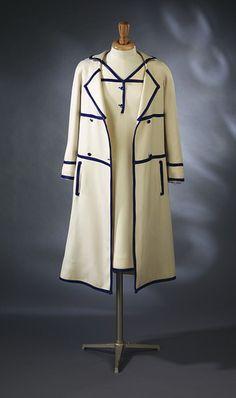 Coat and dress ensemble | André Courrèges | 1965