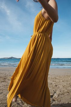 Italy Landscape, Silhouette, Capsule, Caftans, Baskets, Daisy, Wrap Dress, Yellow, Womens Fashion