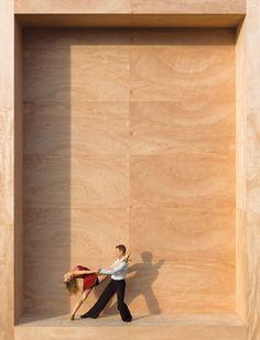 Giant Box Portraits Create Tiny Model Illusions