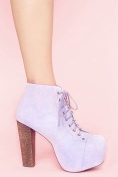 Lilac Suede Jeffrey Campbell Platforms - these are so fucking cute. i wish i didn't have weird legs and could wear campbells hahaha