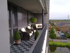Modern balcony garden