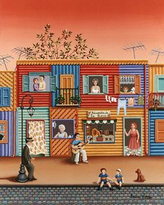 Recuerdos de la boca Naive, South American Art, Deco Paint, Arte Popular, Color Of Life, Art Tips, Contemporary Artists, Rainbow Colors, Illustration