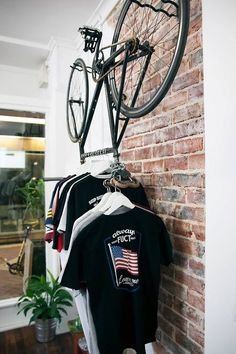 Or hang your bike if you're not going to use it and it'll function as extra storage. | 24 Easy Ways To Get Your Home Ready For Winter