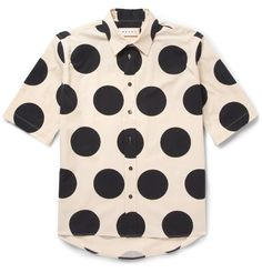 Marni - Printed Cotton-Poplin Shirt