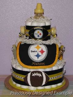 Steelers-Diaper-Cake.JPG - Pittsburgh Steelers Diaper Cake