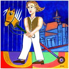 o.s.t. - 100 cm x 100 cm - o menino do cavalo de pau