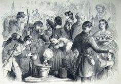 """""""How the Daughters of Maryland Received the Sons of the North as They Marched Against the Rebel Invaders…,"""" a scene in Frederick  (F.H. Schell, artist; Frank Leslie's Illustrated News, November 1, 1862; courtesy of Princeton University Library)"""