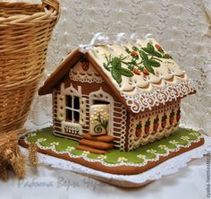 these two women make insane gingerbread houses! I need to teach myself this! Gingerbread Village, Christmas Gingerbread House, Gingerbread Man, Christmas Treats, Christmas Baking, Gingerbread Cookies, Christmas Cookies, Christmas Time, Christmas Decorations