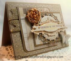 Card made using Melissa Frances Attic Treasures/Spellbinders