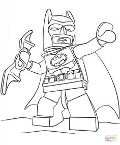 The Batman Movie Lego Coloring Page