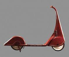 Streamline design era (1930s-40s). Harold L. Van Doren. John Gordon Rideout. Skippy-Racer Scooter. Designed c. 1933