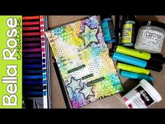 Working with Deli Paper & Crackle Paint - Mixed Media Art Journal - YouTube