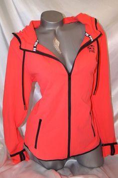 Victorias Secret Pink Half Zip Sweatshirt Large Hi Low Leopard ...