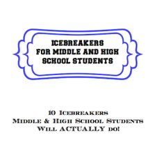 Tales Of Teaching In Heels: Icebreakers for Middle and High School students