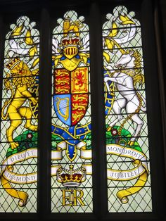 stain glass at Houses of Parliament - London, England