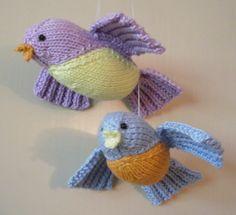Knitted Flying Birds