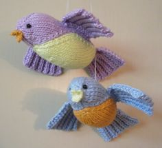 Knitted Flying Birds