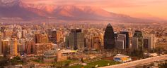 Santiago de Chile is a surprising, cosmopolitan and sophisticated city that also has one of the most spectacular settings of any city in the world. Chile Tours, Main Attraction, World Cities, Capital City, Seattle Skyline, Us Travel, San Francisco Skyline, Travel Photos, Dolores Park
