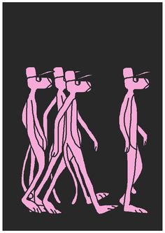 Bob 2 (aka Spray Gang) has a new Pink Panther inspired print up for grabs via his online store . Price at and limited to just 20 han. Panther Print, Animation News, Pink Panthers, Bob, Bob Cuts, Bobs
