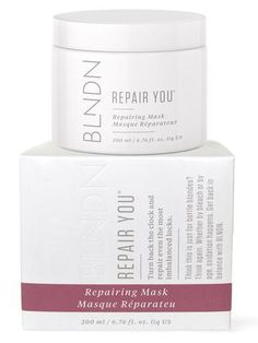 Turn back the clock and repair even the most imbalanced locks. REPAIR YOU is the mask for gals who can't use masks. This ultra thick formula repairs serious damage after the abuse we're going to keep