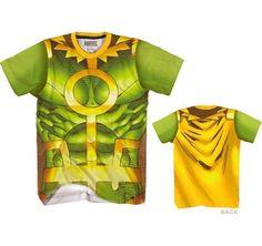 Loki Thor Marvel Comics Costume Front And Back Sublimation Print T-Shirt #Marvel #GraphicTee