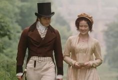 Anthony Calf (Colonel Fitzwilliam) & Jennifer Ehle (Elizabeth Bennet) - Pride and Prejudice directed by Simon Langton (TV Mini-Series, BBC, 1995) #janeausten
