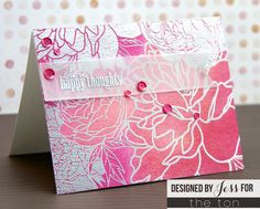Use our Peony Garden cling mounted red rubber stamp to create some floral backgrounds on your papercrafts! 6x6 inches 1 Cling Mounted Red Rubber Background Stam