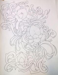 Lotus Filigree Tattoo by ~LolaLotus on deviantART
