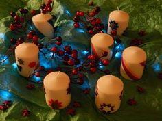 Decorare candele con fogli di cera - YouTube